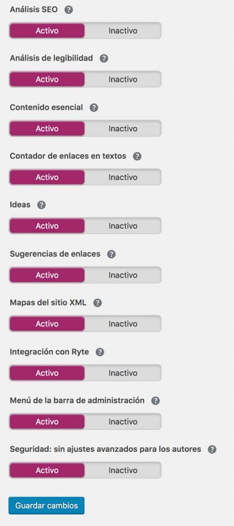 diseño web wordpress analisis seo yoast